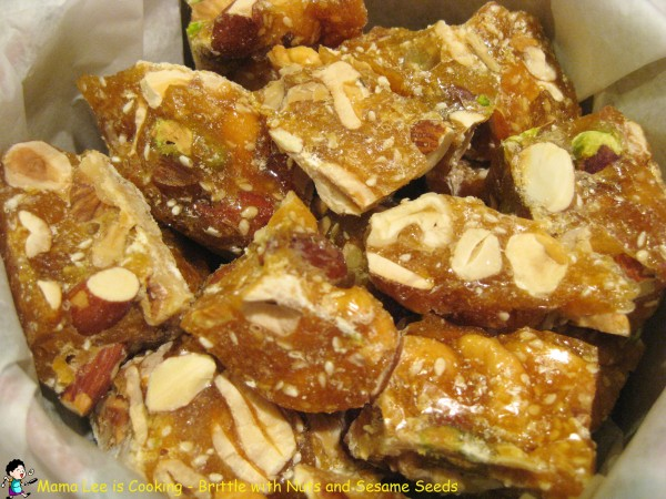 Brittle with Nuts and Sesame Seeds