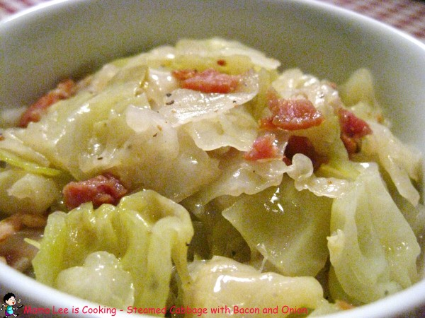Steamed Cabbage with Bacon and Onion