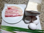 Rice Pancake with Bacon and Green Onion