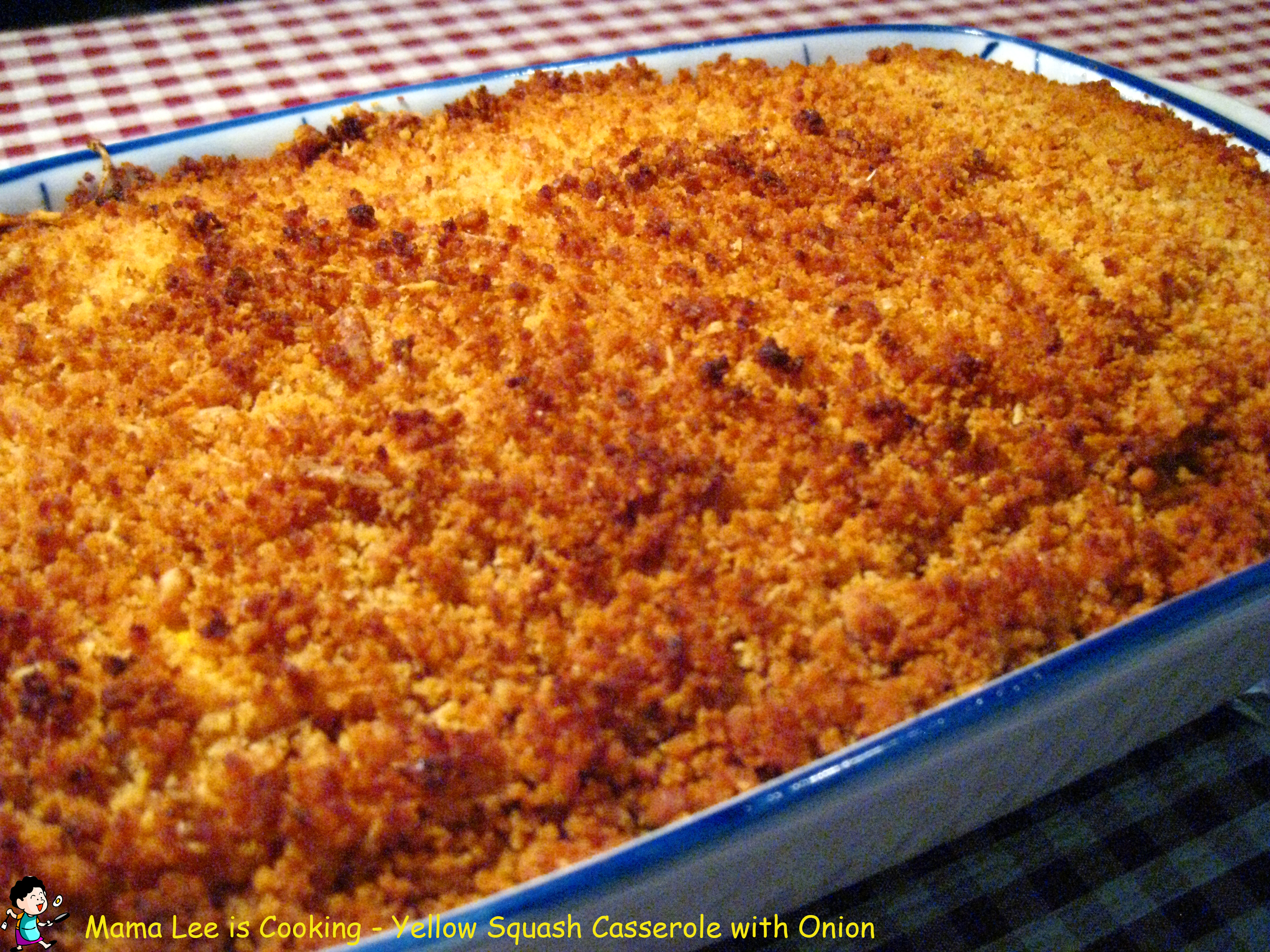 Yellow Squash Casserole with Onion