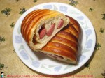 Caterpillar Shaped Bread with Beef Frank and Cheese