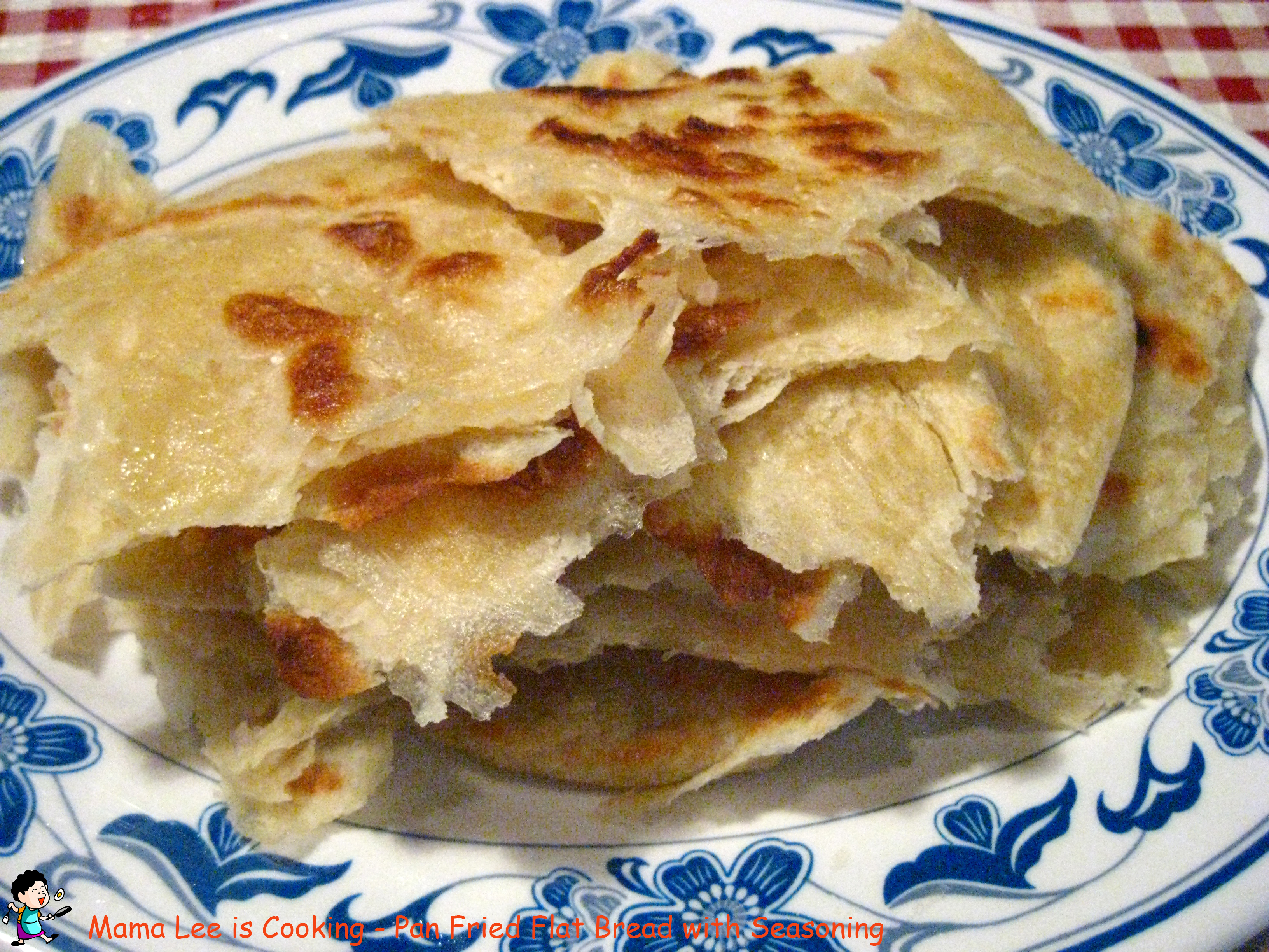 Pan Fried Flat Bread with Seasoning