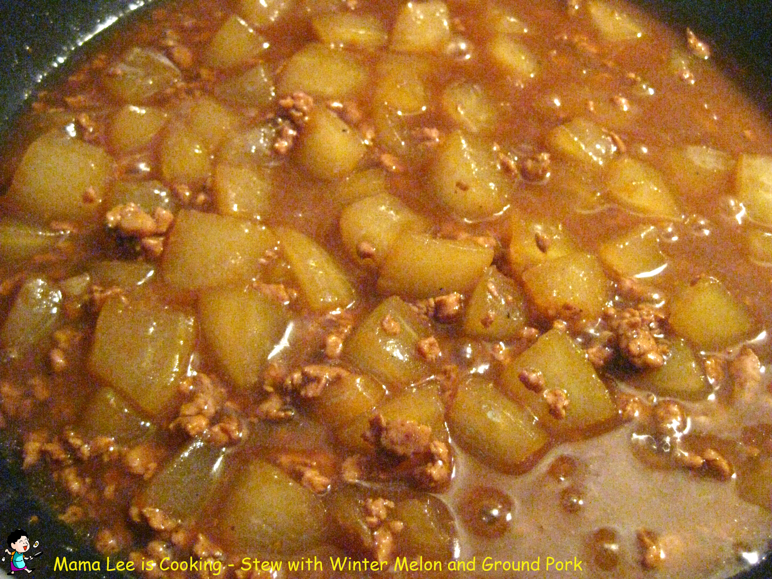 Stew with Winter Melon and Ground Pork