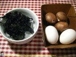 Egg Drop Soup with Mushroom and Nori