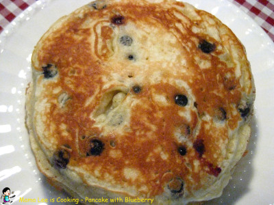 Pancake with Blueberry